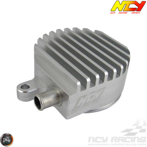 NCY Crankcase Breather High-Flow Billet Silver (Yamaha Vino 125)