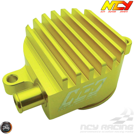NCY Crankcase Breather High-Flow Billet Gold (Yamaha Vino 125)