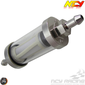 NCY Fuel Filter Ext In-line Fit 1/4in (Universal)