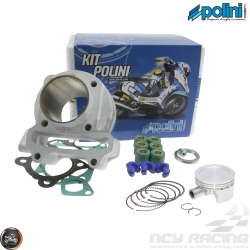 Polini Cylinder 50mm 81cc Nikasil Bore Kit w/Cast Piston Plus Weights (139QMB)