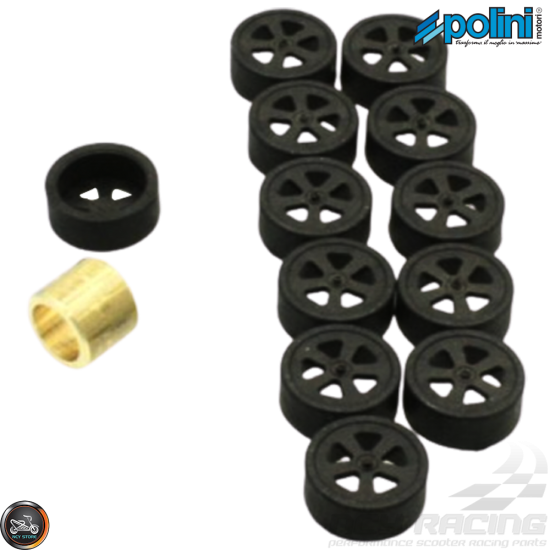 Polini Variator Roller Weight Tuning Kit 19x15.5 (Aprilia, Piaggio, Vespa 50)
