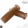 Prima Throttle Grip 7/8in Bottle Brown Gel Set (GY6, Ruckus, Universal)