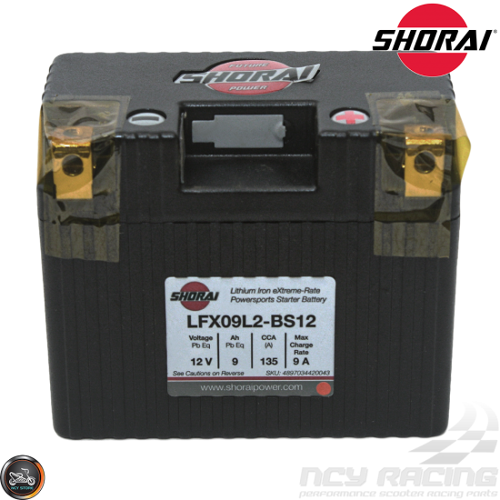 Shorai Lithium Battery 12V 9Ah (LFX09L2-BS12)
