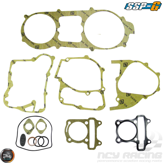 SSP-G Engine Gasket 61mm Set (GY6)