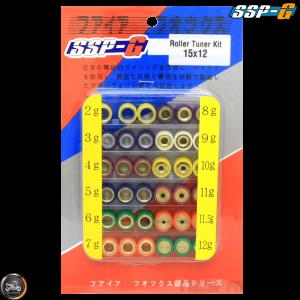 SSP-G Variator Roller Weight Tuning Kit 15x12 (Aprilia, JOG, Zuma 50)
