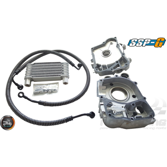 SSP-G Crankcase 65mm Bore Rt-Side w/Oil Cooler Kit Fit 57mm (GY6)