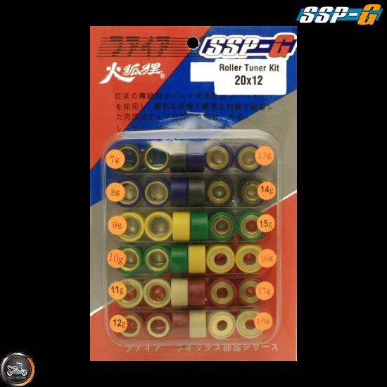 SSP-G Variator Roller Weight Set 20x12 (Vino, Zuma 125)
