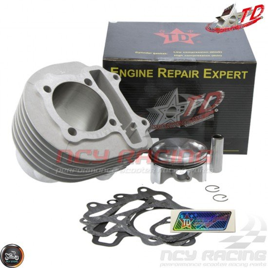 Taida Cylinder 63mm 205cc Ceramic Bore Kit w/HC Forged Piston Fit 54mm (GY6)
