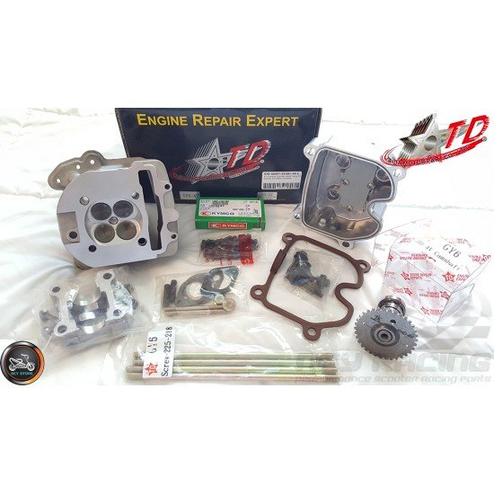 Taida Cylinder Head Combo 67mm 232cc 4V 23/22 Fit 57mm (GY6)
