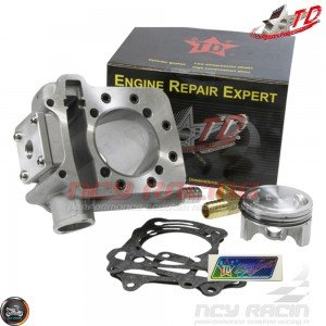 Taida Cylinder 62mm 174.5cc Liquid Cool Kit w/Forged Piston Fit 54mm (GY6)