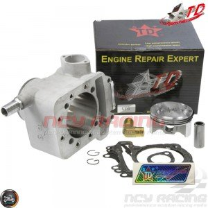 Taida Cylinder 67mm 232cc Liquid Cool Ceramic Kit w/4V Forged Piston Fit 57mm (GY6)