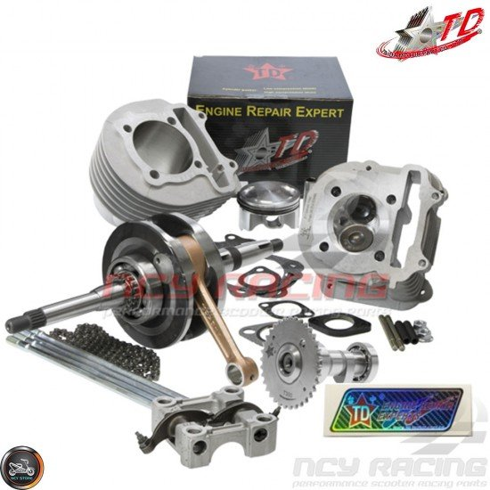 Taida Big Bore Combo 63mm 205cc C 2V w/HC Forge Piston Fit 54mm (GY6)
