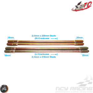 Taida Cylinder Studs 208mm 218mm 4V Set (GY6)