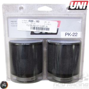 UNI Air Filter Pod 38mm 2-Set Straight (PK-22)
