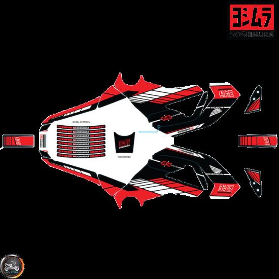 Yoshimura Graphics Decal Kit Black 2014-15 (Honda Grom)