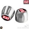 Yoshimura Bar-End CNC Silver Set (Honda Grom, Universal)